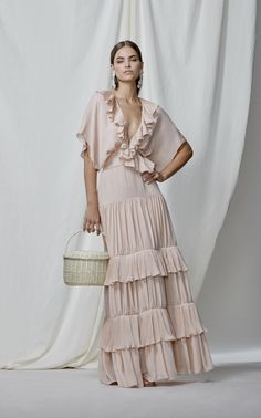 Johanna Ortiz M'O Exclusive Songs Of Innocence Double Georgette Dress Couture Mode, Couture Fashion, Boho Fashion, Fashion Dresses, Fashion Design, 80s Fashion, Womens Fashion, Fashion Tips, The Dress