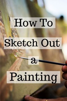 Learn what to do before you start a painting! How to make a sketch on your canvas before starting yo Acrylic Painting For Beginners, Acrylic Painting Techniques, Beginner Painting, Art Techniques, Drawing Lessons, Drawing Skills, Drawing Tips, Art Lessons, Acrylic Painting Lessons