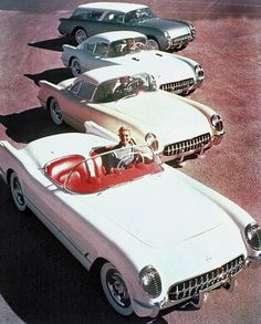 53 Corvette line up. THe coupe and wagon never saw production.