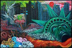 "Laura Barbosa ""The Fall Of Liberty""- NY Fantasy Art  laurabarbosa.wordpress.com"