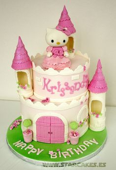 Hello Kitty Castle Cake...So Sweet.