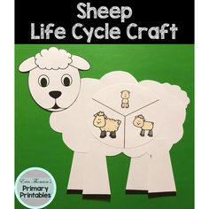 Craft includes: life cycle charts (with and without pictures) head body hair tail ears legs horns Elementary Science, Teaching Science, Science Activities, Elementary Schools, Cycle Pictures, Life Cycle Craft, Cut And Paste, Life Cycles, Farm Animals