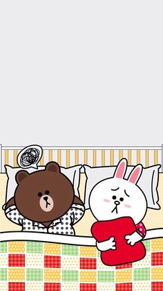 take a nap with me. Cute Couple Cartoon, Cute Couple Art, Lines Wallpaper, Iphone Wallpaper, Line Cony, Cute Bear Drawings, Cony Brown, We Bare Bears Wallpapers, Bunny And Bear