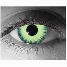 Order includes : One pair of Lenses and FREE storage case   Description   Halloween contact lenses. Make sure you stand our with these Halloween contact lenses. These brightly colored contact lenses have an opaque color that completely covers your natural eye color. Crazy Contact Lenses make...