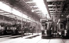 Maryfield tram shed in Dundee.
