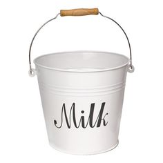 Milk bucket - do one for eggs and one for ice!