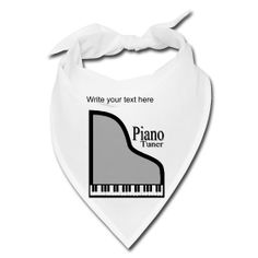 Piano Tuner Bandana by PersonalizedSouvenirs.com.