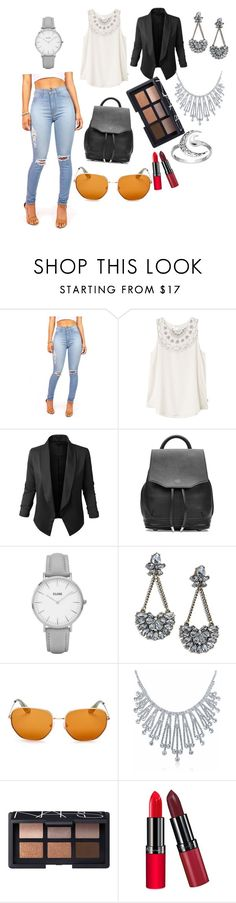 """Untitled #87"" by bosniamode ❤ liked on Polyvore featuring RVCA, LE3NO, rag & bone, Topshop, LULUS, Elizabeth and James, Bling Jewelry, NARS Cosmetics, Rimmel and Primrose"