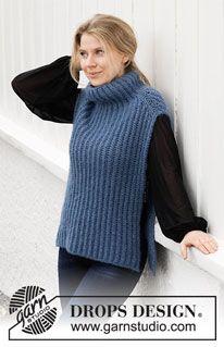 Drops Design, Crochet Girls, Crochet Woman, Knit Crochet, Knitting Paterns, Easy Knitting, Crochet Patterns, Knit Vest Pattern, Knitwear Fashion