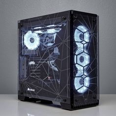 via corsairgaming - Alex Ciobanu's 570TRIX mod on our #BuildShowcase features intricately etched glass panels & customized components throughout the system.  #rigs