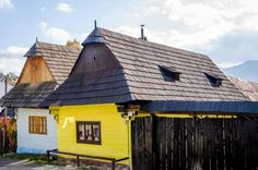 Homes and school in the village of Vlkolinec, a UNESCO World Heritage Site in Slovakia Carpathian Mountains, Eastern Europe, Heritage Site, European Travel, The Places Youll Go, Exploring, Travel Inspiration, Buildings, Nerd