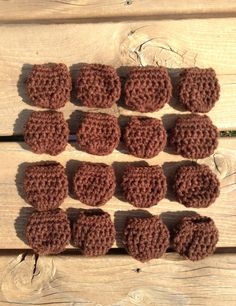 Medium brown crochet chair socks chair booties with by BallAndHook