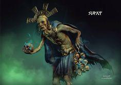 The Inca god of death Supay.