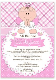 Kit Imprimible Bautizo Invitaciones Niño Niña Gemelos - $ 80.00