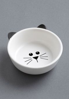Mew Plate Special Pet Bowl, #ModCloth I want this for Cosmo!