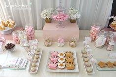 5 comunión princesas - comunión temática princesas - comunión de cuento - comunión rosa blaco y dorado - fiesta princesas - cumpleaños princesas - mesa dulce princesas 1