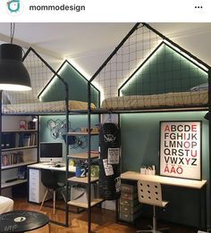 At first, we think boys only have few kinds of stuff. They are not as complicated as girls are, or maybe we think they do not really care how their room looks like. However, there are a lot more boys bedroom ideas to enrich your toddler's room reference Boy Toddler Bedroom, Boys Bedroom Decor, Teen Girl Bedrooms, Boy Room, Boys Shared Bedroom Ideas, Bedroom Themes, Bedroom Colors, Bedroom Wall, Master Bedroom