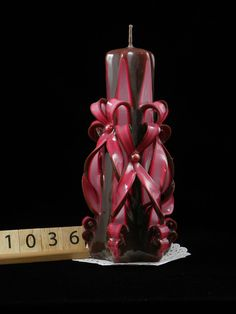 Promotional #Offer! Hand Carved Candle, Brown and Pink, Double Bow Carve, 7 Inch is available at $28.00 https://www.etsy.com/listing/467906687/hand-carved-candle-brown-and-pink-double?utm_source=socialpilotco&utm_medium=api&utm_campaign=api #toys