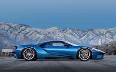 Herunterladen hintergrundbild ford gt, 2017, rennwagen, blau, ford, amerikanische autos