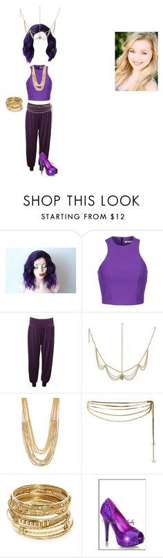 """""""Genie In A Bottle"""" by princessmax ❤ liked on Polyvore featuring T By Alexander Wang, WearAll, ABS by Allen Schwartz, Rosantica and Descendants"""
