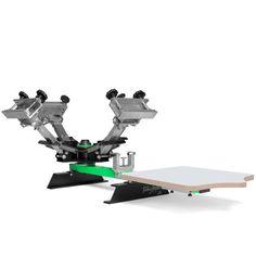 $500 Riley Hopkins JR. Screen Printing Press - 4 Color 1 Station   ScreenPrinting.com Powered by Ryonet