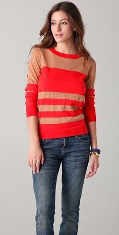 love these colors! Marc by Marc Jacobs Chianti Sweater