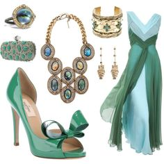 Blue Loves Green, created by leiastyle on Polyvore