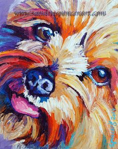 "**Please click the ""zoom"" tool to see this photo larger**    An original painting by me, Sandra Spencer. I love dogs showing a playful side, its my"