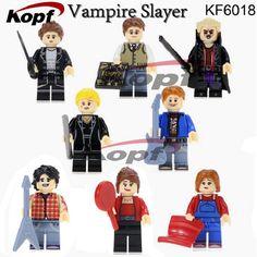 Single Sale Super Heroes Angel Spike Willow Xander Buffy the Vampire Slayer Series Building Blocks Children Gift Toys KF6018 #Affiliate