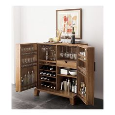 A friend and I are trying to repurpose an old stereo/record cabinet into a bar cabinet.  Looking for good ideas.