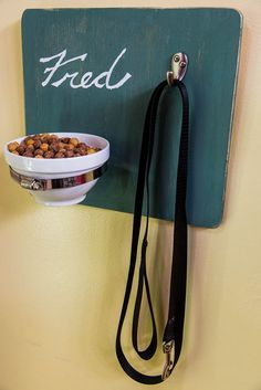 "DIY this ""treat & leash"" holder for your pets! See more crafts by @kennethwingard on #homeandfamily!"