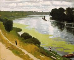 La Frette vue d'Herblay, - Albert Marquet, 1919. Musée Albert-André, Bagnols-sur-Cèze, France