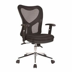 Black Mesh Manager's Chair $169
