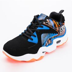 5ea3f2d471b5 Men Sneakers Basketball Big Size 11 Basketball Shoes Boys Low Top Brand Men  Basketball Shoes Blue Orange Sport Shoes Men Leather   Price   US  30.42    FREE ...