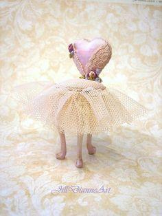 Ready to Send  Pink Blush Peach Ballerina Chair door JillDianneArt, $285.00