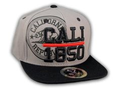This is a High Quality California Republic 1850 Gray Flat Bill Snapback Hat from Top Level. It has Embroidered Cali 1850 in on the Front! With California Republic & Bear in Print! Embroidered California State on the Side! And a California Bear! California Bear, California Republic, Flat Brim Hat, Flat Bill Hats, Hip Hop Hat, Snapback Cap, Baseball Hats, Flats, 3d