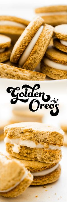 Golden Oreos {vegan,