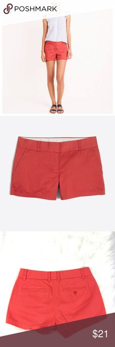 """NEW J Crew Factory 3"""" Chino Shorts (Old Red) Excellent condition and super cute. 28"""" waist 11"""" from waist to hem J. Crew Factory Shorts"""