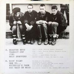 La pochette du premier EP des Beastie Boys (1982),
