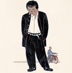 #illustrator #illustration #guy #man #people #japan #rokyo #love #life #happy #figure #イラストレーション #イラスト #drawing #print