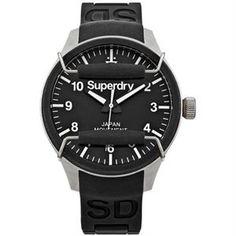 45 mm de caja de este espectacular modelo reloj Superdry Scuba en color negro, correa de silicona de lo más resistente, todo sumergible hasta los 100metros, y sistema de protección de esfera. www.relojes-especiales.net #cuarzo #silicona #watch