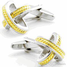 Criss Cross Stud Cufflinks, Fine Men's Jewelry from Cufflinksman