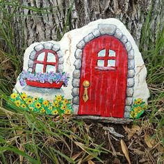 Resultado de imagen para casitas pintadas en piedras pinterest