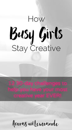 Want to stay creative all year and be able to tackle creative tasks every day? Use our 12 30-day challenges to boost your creativity this year // Acorns and Lemonade.com