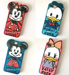 Cute Disney Minnie Mickey duck  silicone Soft case Cover for iPhone 7 6 6S Plus