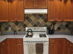 """painted kitchen backsplash """"tile"""""""