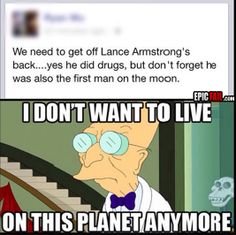 One small step for Lance Armstrong