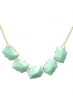 mint statement necklace.