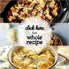 Savory Mushroom Bread Pudding www.theteelieblog.com #TeelieBlog