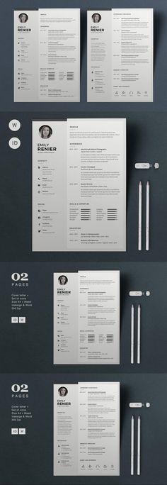 Resume Emily #formfabrique #a4 #BestResumeFormat #CvTemplate #ResumeTemplateDesign #creative #cover #resumetemplate #stationery #ResumeTemplateDesign #design #ResumeTips #CvDesign #CV #ResumeTemplateDownload #docxresume #cvdesign #ResumeHelp #chart Stationery Printing, Stationery Design, Cv Template, Resume Templates, Form, Print Design, Invitations, Cover, Image